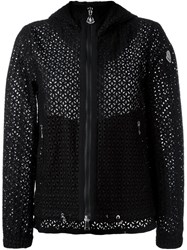 Moncler Perforated Crochet Jacket Black