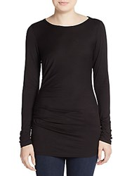 Max Studio Ruched Jersey Knit Tunic Black