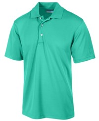 Pga Tour Men's Airflux Solid Golf Polo Shirt Bright Aqua