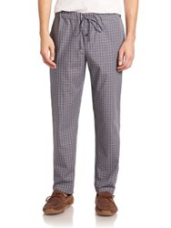 Hanro Plaid Woven Pants Grey