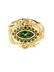 Aurelie Bidermann Fine Jewellery Cashmere Tourmaline And Diamonds Yellow Gold Ring