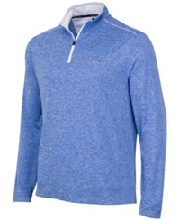 Greg Norman For Tasso Elba Men's Big And Tall 1 4 Zip Golf Pullover Cobalt Glaze Heather