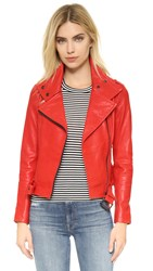 Mackage Hania Leather Jacket Flame