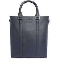 Estime Navy 6To8 4 Leather Printed Holdall Blue