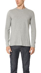 Wings Horns Silk Jersey Long Sleeve Crew Neck Tee Heather Grey