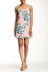 Pink Owl Floral Spaghetti Strap Dress Pink