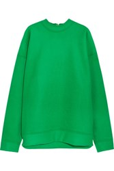 Marques' Almeida Oversized Wool Blend Felt Sweatshirt Green