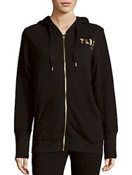 True Religion Glittered Logo Hoodie Black