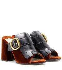 Prada Leather Mules Brown