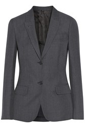 Agnona Wool And Linen Blend Blazer Gray