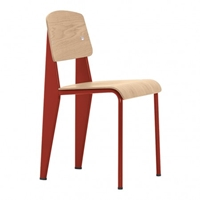 Standard Chair With Red Frame And Oak Seat The Conran Shop