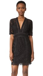 Veronica Beard Sage Seamed Lace Mini Dress Black