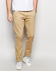 Solid Straight Fit Chinos Beige