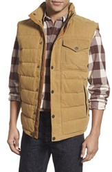 Men's Timberland 'Mt. Davies' Water Resistant Waxed Canvas Down Vest Medal Bronze
