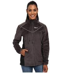 Jack Wolfskin Caldera Jacket Dark Steel Women's Coat Brown