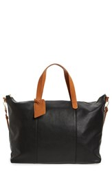 Sole Society 'Candice' Oversized Travel Tote Black
