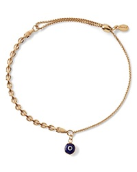 Alex And Ani Precious Metals Evil Eye Track Pull Chain Bracelet Gold Filled
