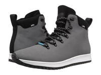 Native Apollo Apex Dublin Grey Shell White Jiffy Black Rubber Lace Up Boots Gray