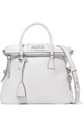 Maison Martin Margiela 5Ac Baby Textured Leather Tote White