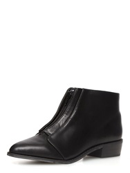 Dorothy Perkins Zip Front Pointed Boots Black
