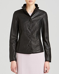 Armani Collezioni Jacket Leather Black