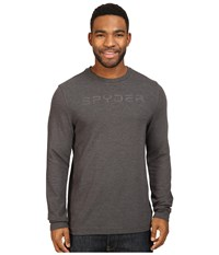Spyder Pump Therma Stretch T Neck Top Polar 1 Men's Long Sleeve Pullover Pewter