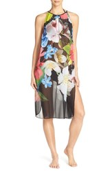 Women's Ted Baker London 'Forget Me Not' Floral Print Cover Up Dress