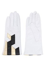 Aristide Geometric Nappa Leather Gloves