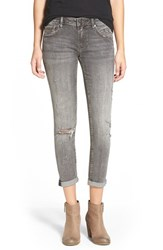 Junior Women's Vigoss 'Thompson Tomboy' Distressed Crop Skinny Jeans