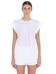 Yakampot Cotton Top With Lace Inserts