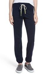 Sundry Women's Terry Drawstring Sweatpants Navy