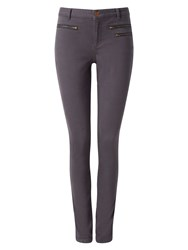 Phase Eight Victoria Triple Zip Jeans Charcoal