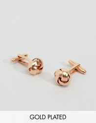Simon Carter Knot Cufflinks In Rose Gold Exclusive To Asos Rose Gold