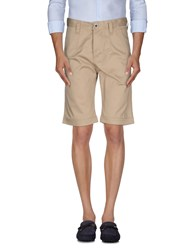 Humor Trousers Bermuda Shorts Men Beige