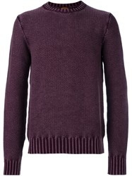 Tod's Textured Knit Jumper Pink And Purple