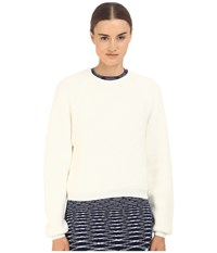 See By Chloe Knit Pullover With Back Zipper Off White