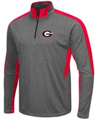 Colosseum Men's Georgia Bulldogs Atlas Quarter Zip Pullover Charcoal Red