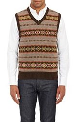 Rag And Bone Rag And Bone Troy Sweater Vest Brown