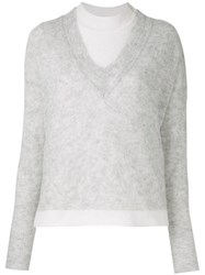 Dondup Mock Neck Jumper Grey