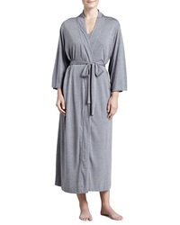 Natori Shangri La Jersey Robe Women's Heather Gray