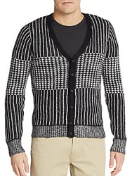 The Kooples Jacquard Knit Cardigan Black
