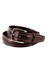 Men's Big And Tall Tommy Bahama 'Palm Springs' Leather Belt Brown
