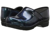 Dansko Pro Xp Paint Brush Patent Women's Clog Shoes Black