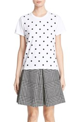 Marc Jacobs Women's Embellished Cotton Polka Dot Tee