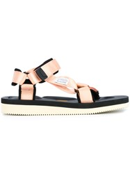 Suicoke Velcro Strap Sandals Yellow And Orange