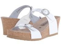 Mephisto Lidia White Patent Women's Wedge Shoes