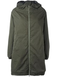 Aspesi Hooded Coat Green