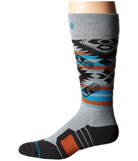 Stance Granite Chief Grey Heather Men's Crew Cut Socks Shoes Gray