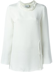 3.1 Phillip Lim Cowl Neck Blouse White