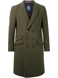 Guild Prime Double Breasted Overcoat Green
